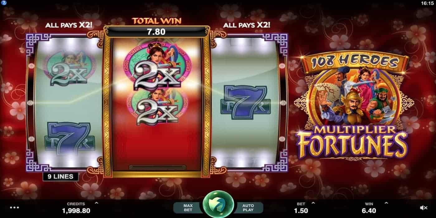 108 Heroes Multiplier Fortunes Slot Microgaming