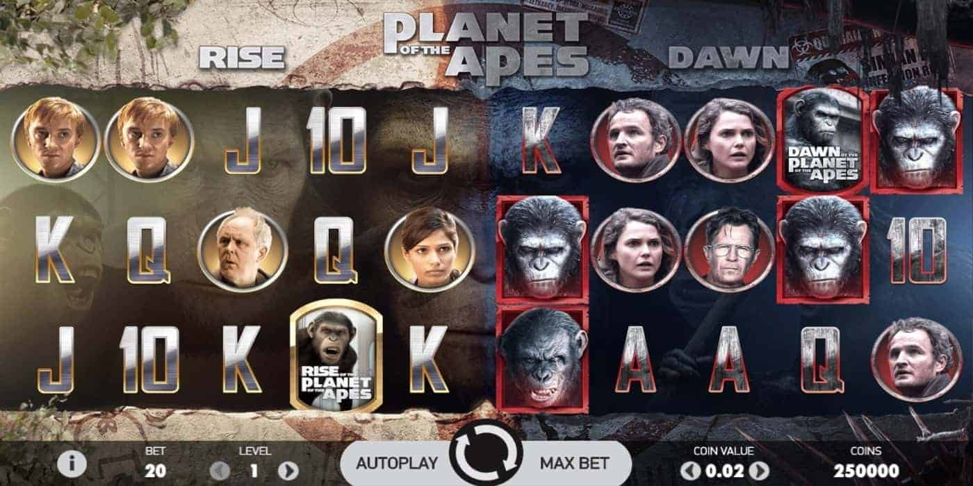 Planet of the Apes Slot Net Entertainment