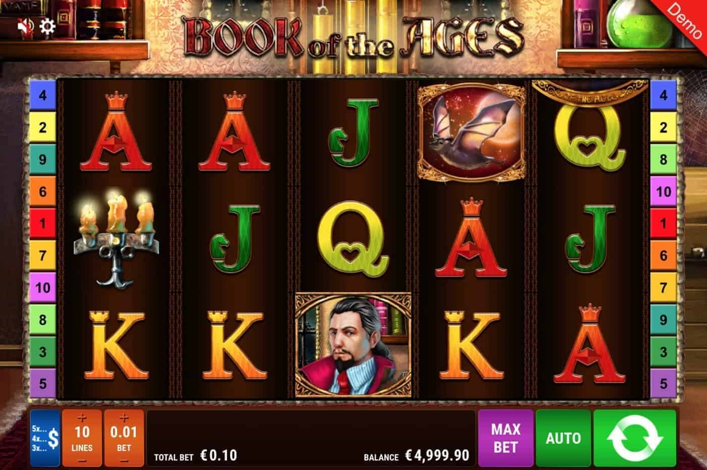 Book of the Ages Slot Gamomat