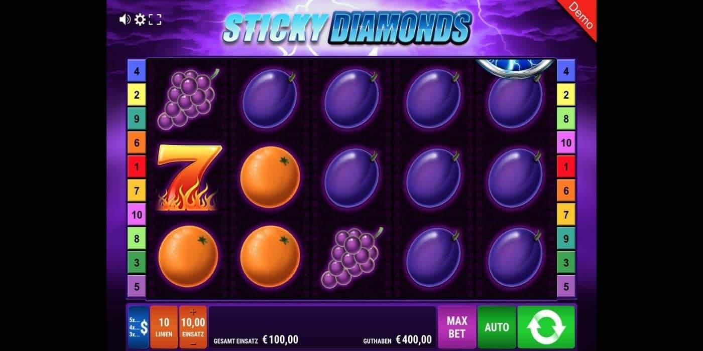 Sticky Diamonds Slot Gamomat