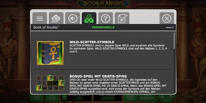Bonussymbole Book of Anubis