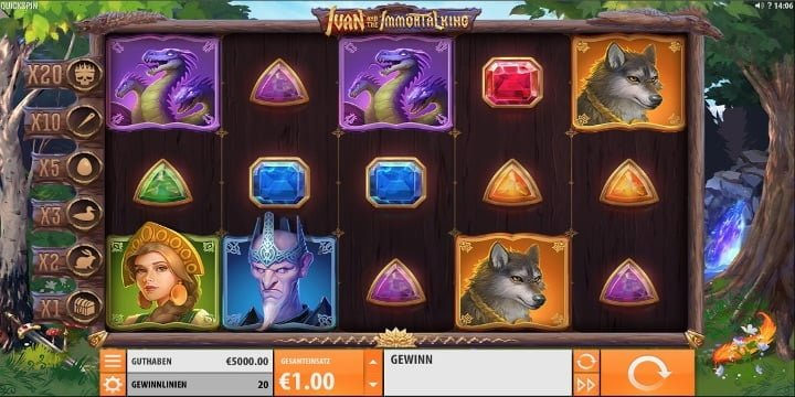 Video-Slot Ivan and the Immortal King