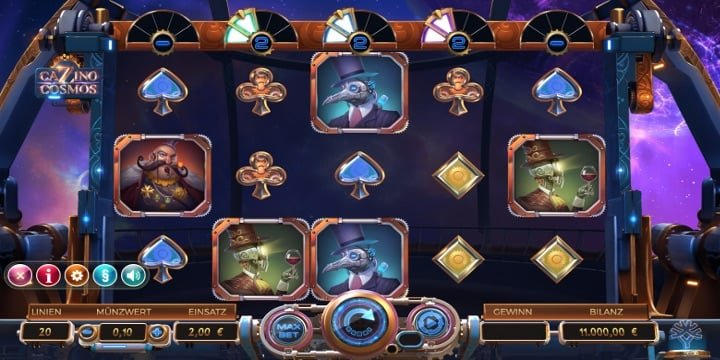 Cazino Cosmos Video-Slot von Yggdrasil