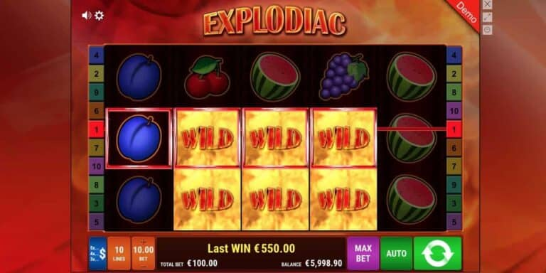 Explodiac Slot von Gamomat