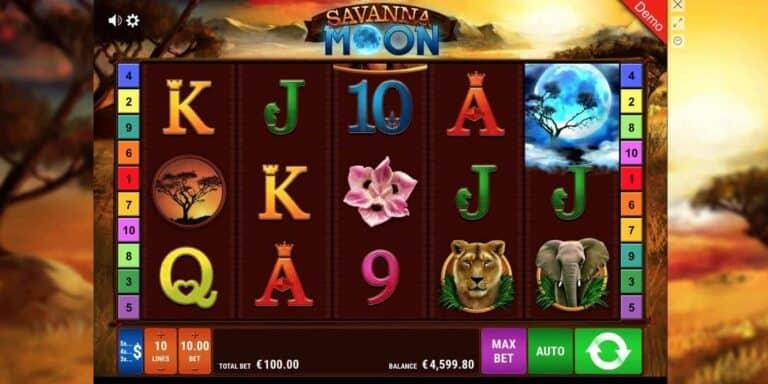 Savanna Moon Slot von Gamomat