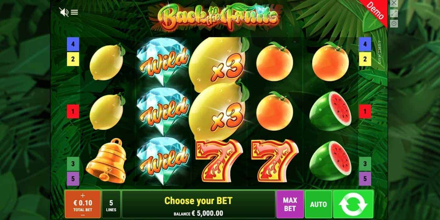 Back to the Fruits Slot Gamomat