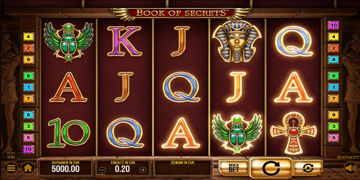 Slot Book of Secrets Synot