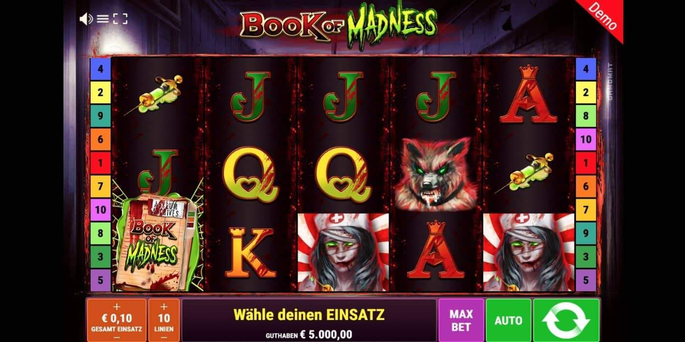 Book of Madness Slot Gamomat