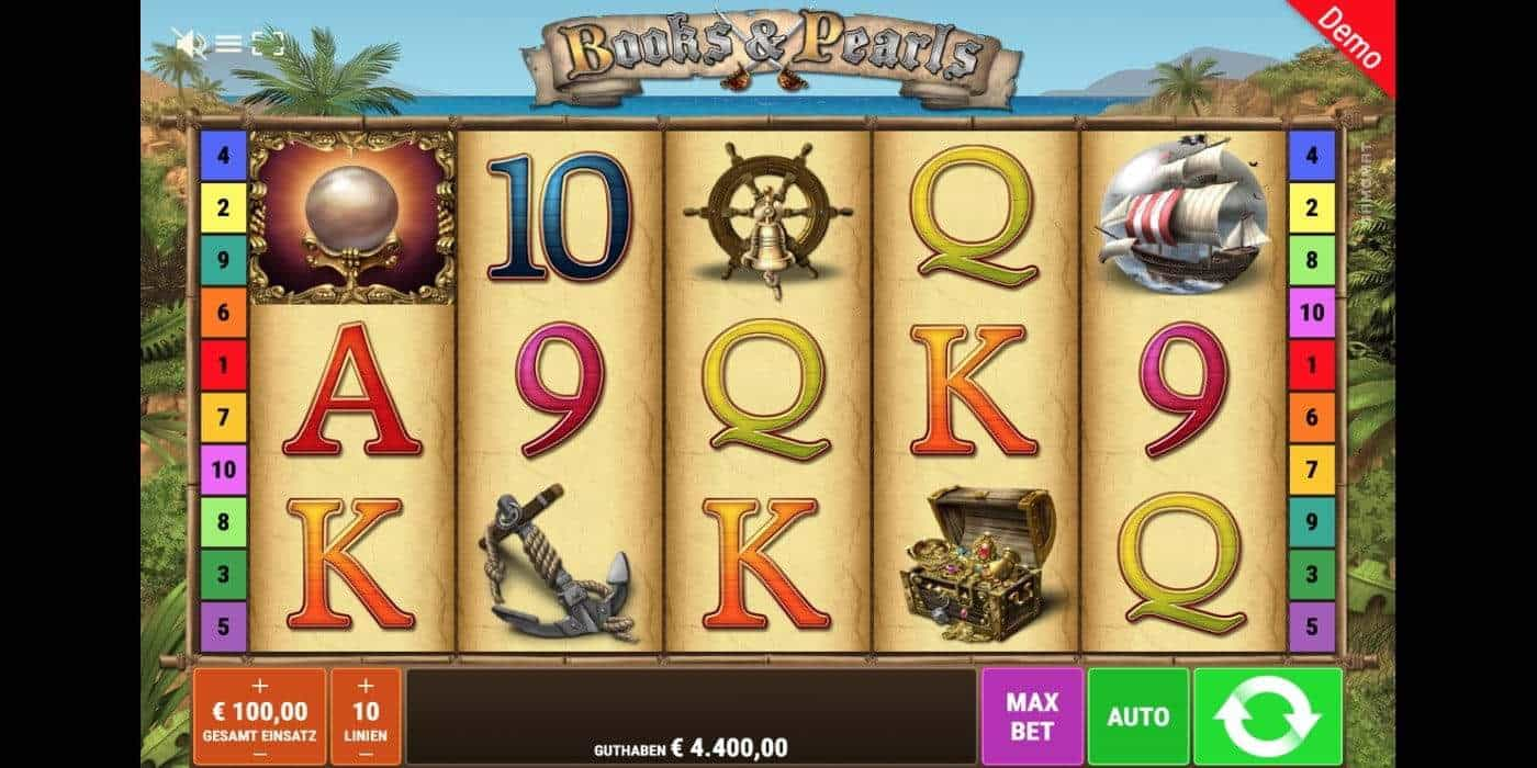 Books and Pearls Slot Gamomat