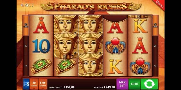 Pharao's Riches Slot von Gamomat