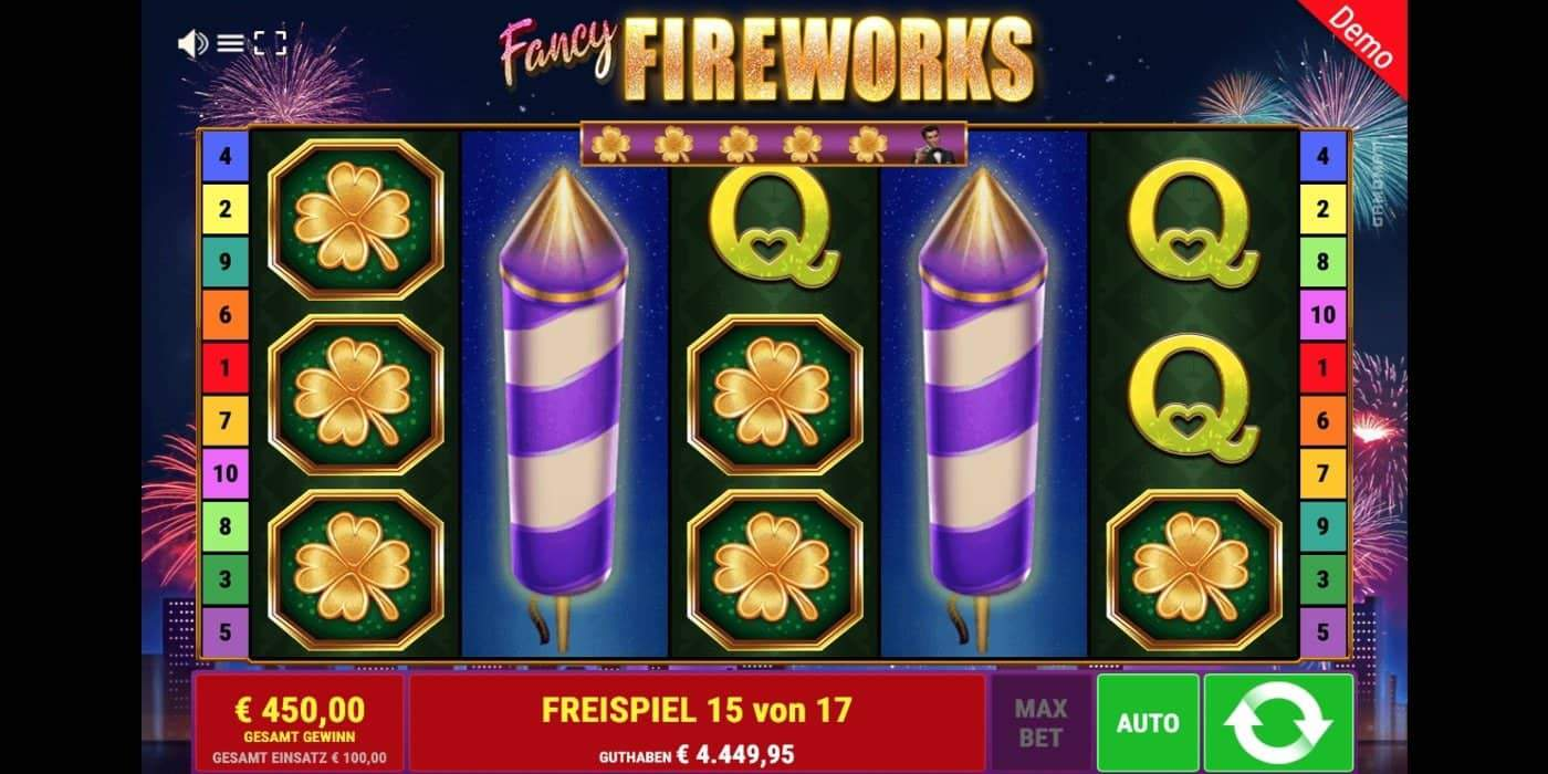 Fancy Fireworks Slot Gamomat