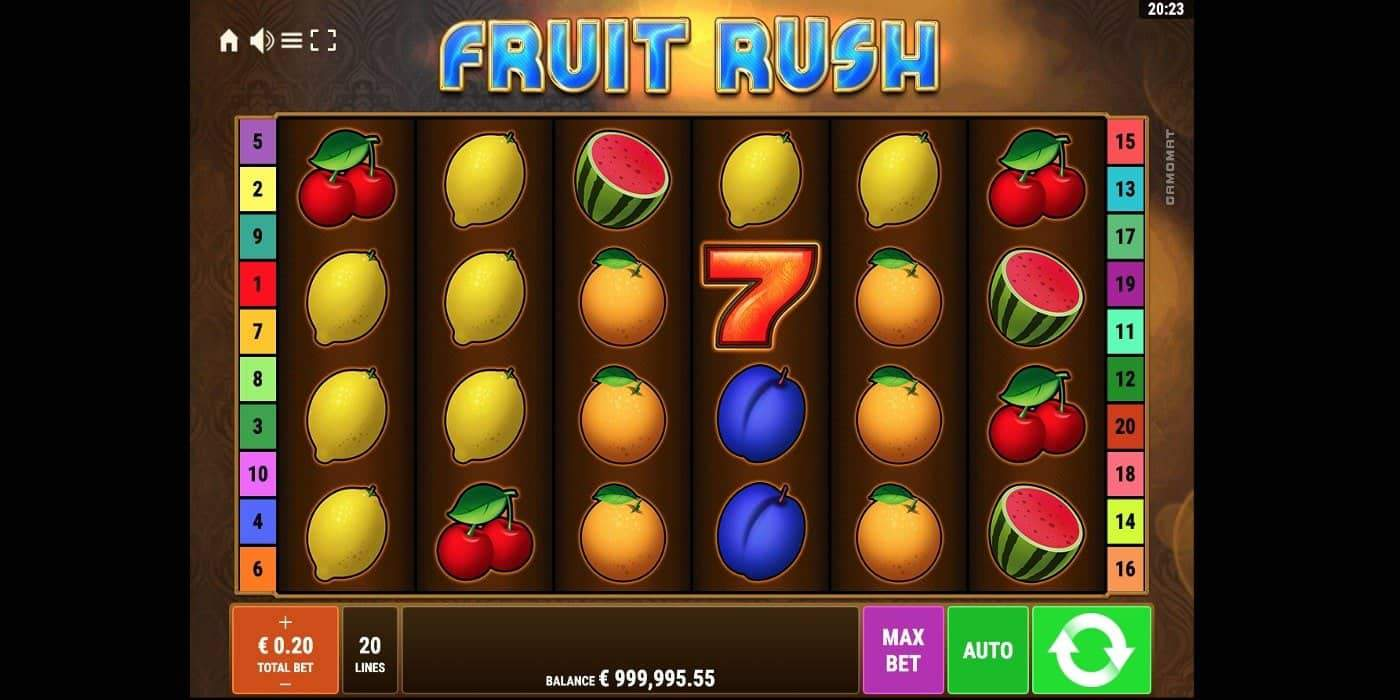 Fruit Rush Slot Gamomat