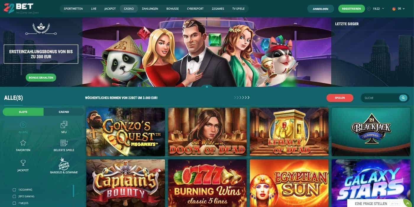 Home 22Bet Casino