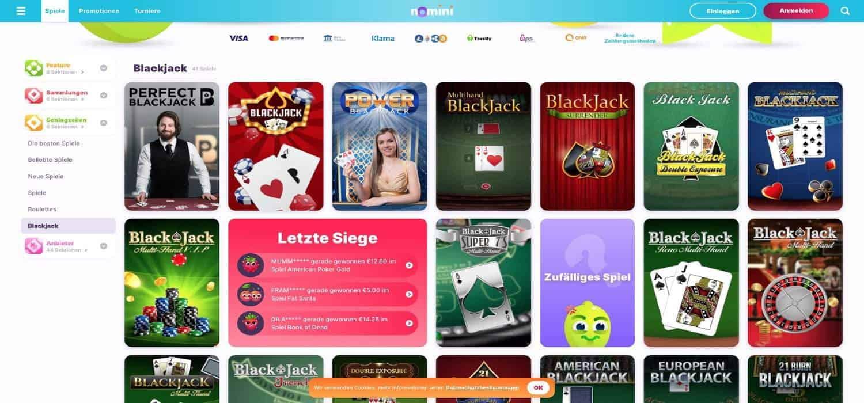 Blackjack Nomini Casino