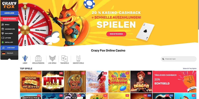Home Crazy Fox Casino