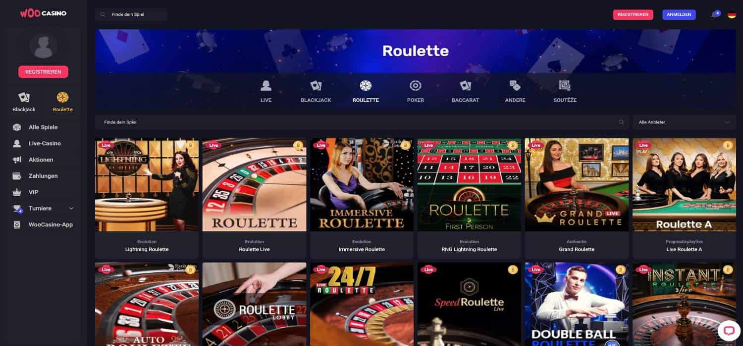 Woo Casino Roulette