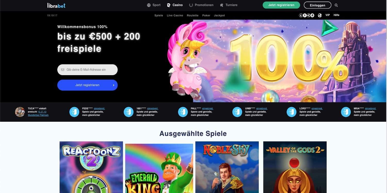 Bonus Librabet Casino