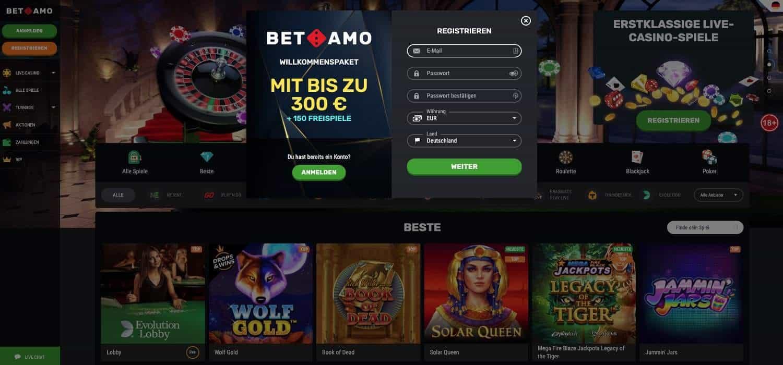 Registrierung Betamo Casino