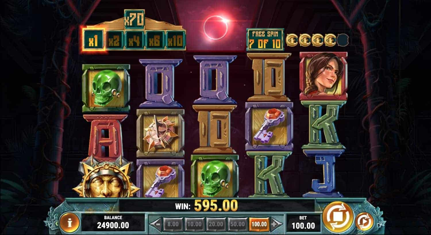 Cat Wilde in the Eclipse of the Sun God Slot Play'n GO