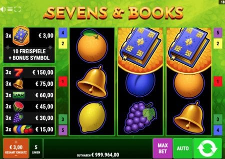 Sevens & Books Slot