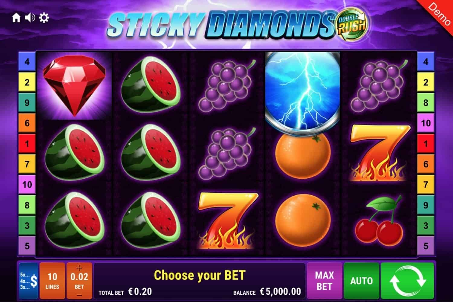Sticky Diamonds Double Rush Slot
