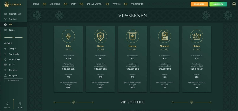 Casinia Casino VIP