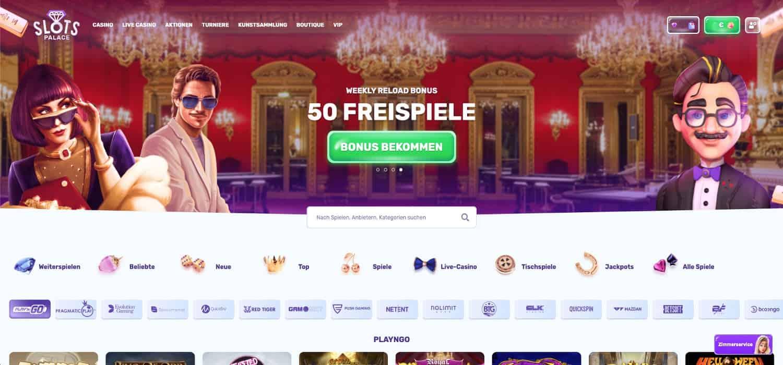 SlotsPalace Casino Lobby
