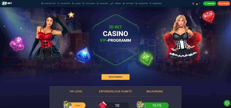 20Bet Casino VIP