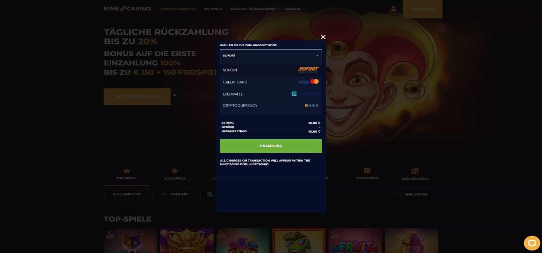 Nine Casino Einzahlen