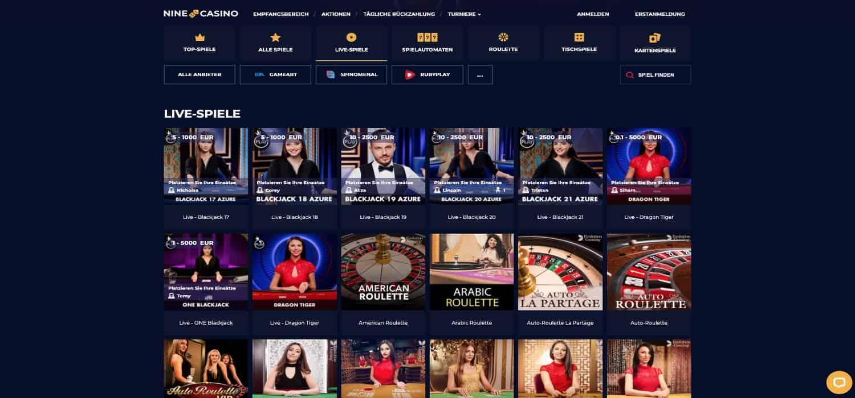 Nine Live-Casino