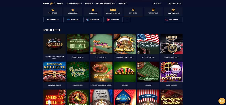 Nine Casino Roulette