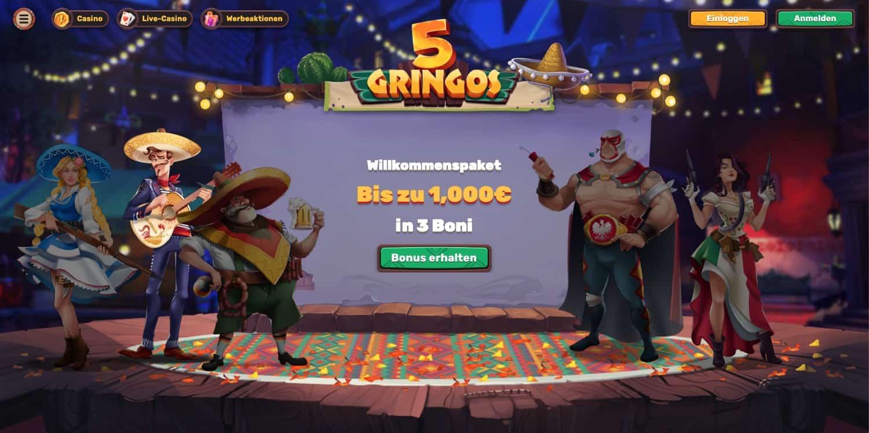 5Gringos Casino Bonus